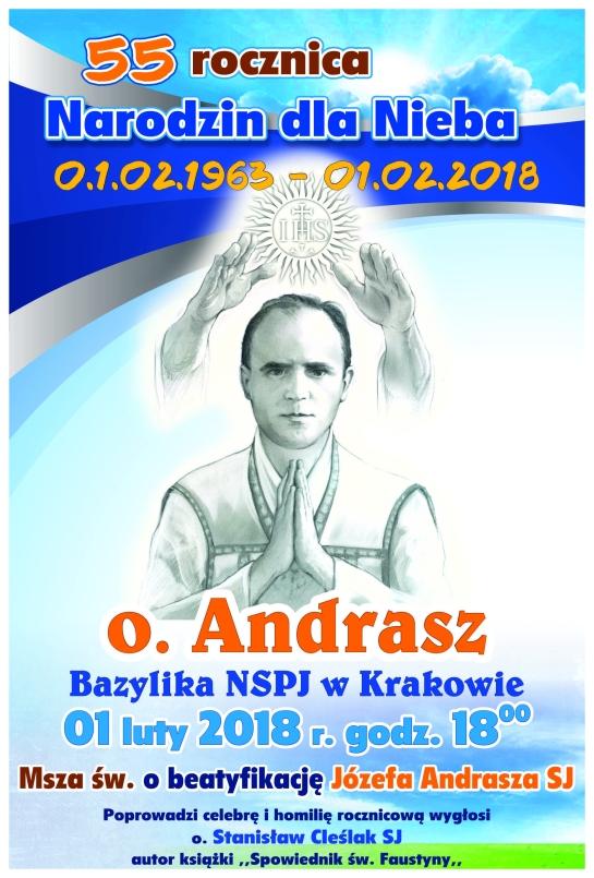 plakat Andrasz 55 rocznica Kraków