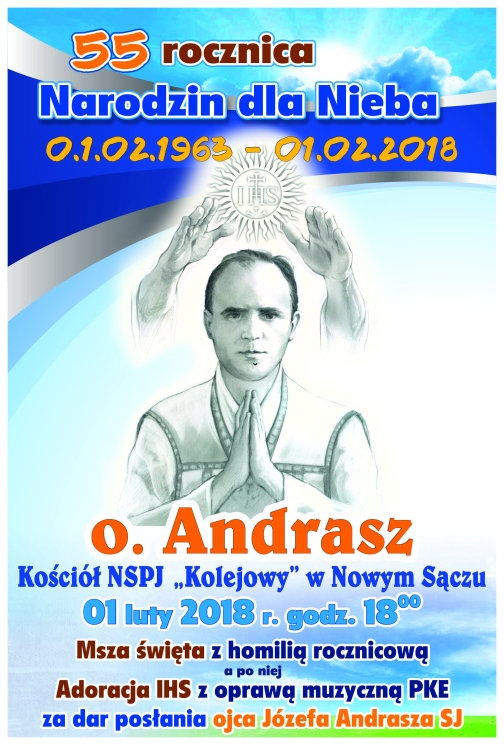 plakat Andrasz 55 rocznica Nowy Sącz