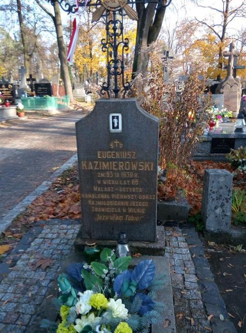 Grób Eugeniusza Kazimirowskiego, Cmentarz Farny w Białymstoku